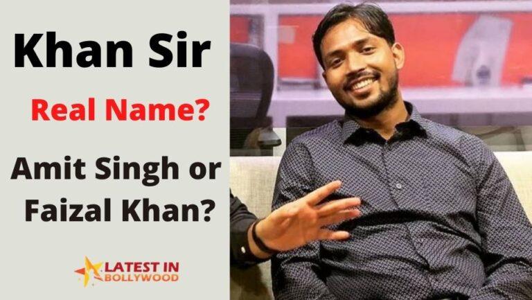 Amit Singh Khan Sir Real Name? Or Faisal Khan